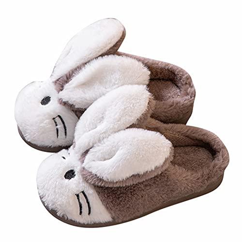 Dinnesis Babyschuhe Jungen Mädchen Cartoon Pelzigen Schuhe Indoor Home Warme Baumwollhausschuhe Anti-Rutsch Sohle Schuhe Unisex Kinder Kleinkinder