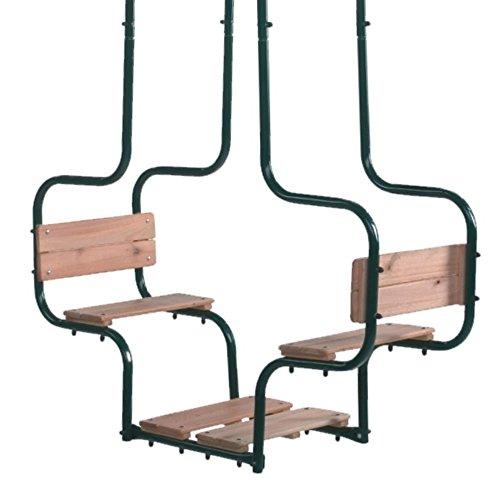 Gartenwelt Riegelsberger Doppelschaukel Metall Cocoon Gondelschaukel Doppelsitzschaukel Sitzfläche Holz