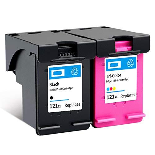 Cartucho de tinta 121XL, de alto rendimiento para impresoras HP Deskjet F4275 F4280 F4238 F4283 PhotoSmart C4780 ENVY 100 110, color negro y tricolor, 1 negro 1 tricolor