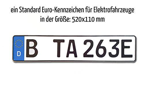 TA TradeArea 1 kentekenplaat voor motorvoertuigen, standaard formaat, 520 x 110 mm