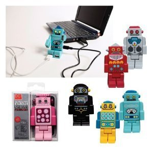 Robot 4 Port USB Hub - Yellow