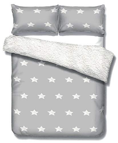 ShawsDirect Teddy Bear Fleece Duvet Quilt Cover Seren Duvet Cover set - Single/Double/King Size (King)