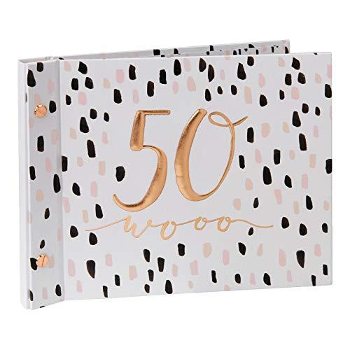 Hotchpotch Luxus-Gästebuch zum 50. Geburtstag, mit Fotoalbum, Pink