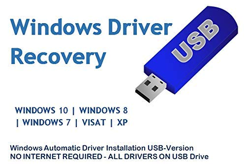Automatic Driver Installation USB Drive 32GB for Windows 10, 7, Vista and XP. Supports HP Dell Gateway Toshiba Gateway Acer Sony Samsung MSI Lenovo Asus IBM Compaq eMachines