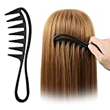 Sanas Wide Tooth Hair Comb Procomb Wavy Long Curly Hair Care Detangling Wide Teeth Brush Hairdressing Styling Tool