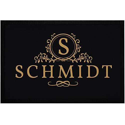 SpecialMe® Fußmatte mit Namen und Initiale Monogramm Familie Türmatte rutschfest & waschbar weiß 60x40cm