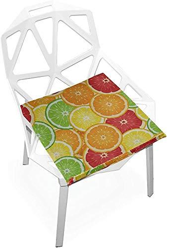 Mesllings Cojín de asiento para exteriores, sin costuras, con ilustración vectorial, suave, antideslizante, espuma viscoelástica para silla de casa, cocina, oficina, escritorio, 38 x 35 cm, color rosa