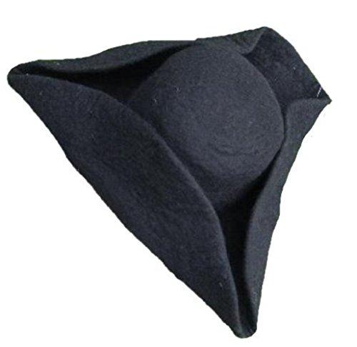 Leonardo Carbone Mittelalter Hut - Unisex Dreispitz aus Wolle braun