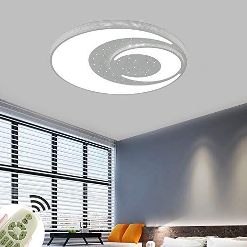 Lámpara de Techo LED para Habitación Infantil de Diseño Redondo 60W Luz de Techo Regulable Dormitorio Salón Blanco [Clase de eficiencia energética A+]