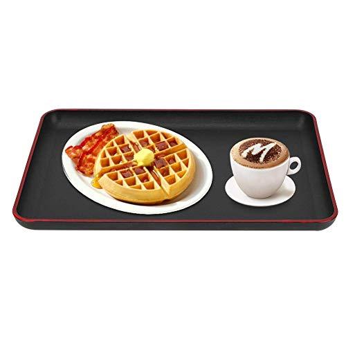 Duokon Kunststoff-Acryl-rechteckige Tablett, japanischer Stil rutschfeste Lebensmittel Tablettplatte für Restaurant Home Hotel(39 x 28cm/15.4 x 11in)