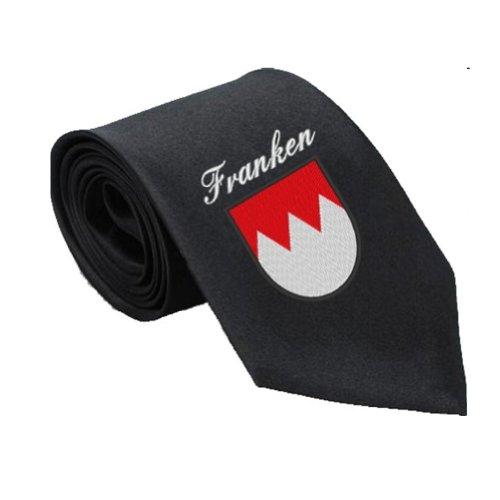 Wolfszeit Krawatte bestickt mit dem Frankenwappen