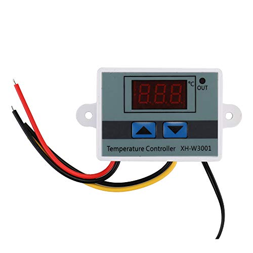Controlador de temperatura 12V/220V/24V para acuario/incubadoras/Invernadero,XH-W3001 Termostato de temperatura digital mini LCD