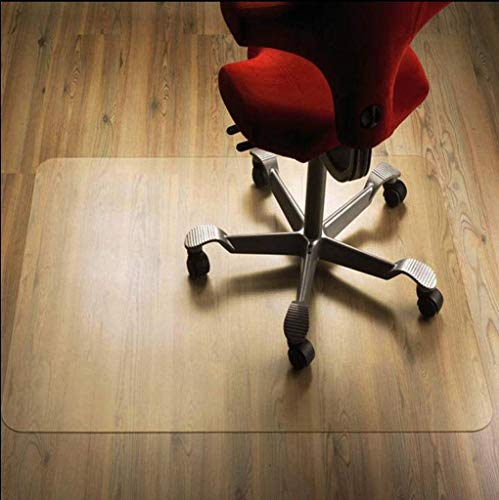 HUANXA PVC Teppich, Bodenschutzmatte Hartholzboden Transparent Kratzfest Schutzmatte Für Niedrigfloriger Teppich Computer Stuhl Bürostuhl Bürostuhl Unterlage-40x60cm(16x24inch)-Durchsichtig1.5mm