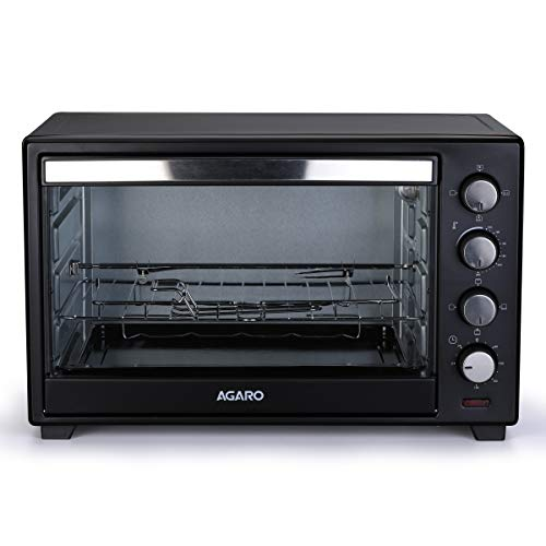 AGARO - 33310 Marvel Series 48-Litre Oven Toaster Griller with Motorized Rotisserie & 3 Heating Modes (Black)