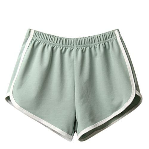 Buy Women Summer Elastic Waist Casual Sport Shorts New Beach Hot Pants Running Workout Shorts for Yo...