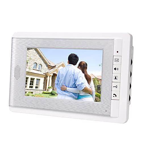 YUTRD ZCJUX Color De 7 Pulgadas Video Intercom Video Doorbell Doorbell Puerta por Cable Pantalla Interfone para Apartamentos En El Hogar (Color : V70C Only)