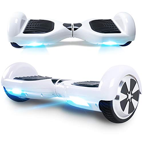 Windgoo Hoverboard, 6.5 Zoll Self Balance Scooter mit Starker Dual Motor - LED Lights Elektro Scooter, Self Balancing Scooter für Kinder (Weiß)