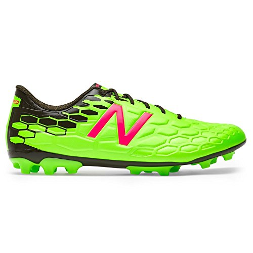 New Balance Visaro 2.0 Mid Level AG, Bota de fútbol, Green-Cherry, Talla 11 US (45 EU)