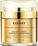 Go May Face Moisturizer, Advanced Face Firming Cream for Anti-aging, Anti-oxidation, With Retinol Pro, Polypeptides, Sweden Hyaluronic Acid, Fullerenes, Vitamin C and E