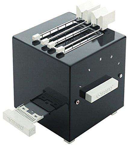 """Trabo Design-Toaster &bdquo Block"""" von Piero Russi, ABS, Schwarz, 24,5cm x 22,5cm x 28cm"""