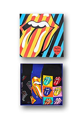 Happy Socks The Rolling Stones - Calze da uomo, multicolore Multicolore Scatola (3 paia).