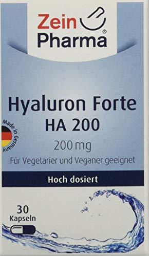 ZeinPharma Hyaluronsäure 200 mg 30 Kapseln (Monatspackung gegen Falten und Entzündungen Hergestellt in Deutschland, 10 g, mehrfarbig
