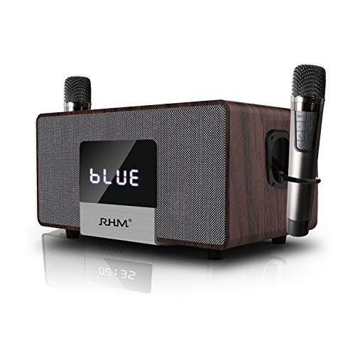 RHM Home Karaoke System on TV with 2 Wireless Microphones,All in One Wireless PA Speaker System with Bluetooth/AUX/USB,Professional Home KTV...