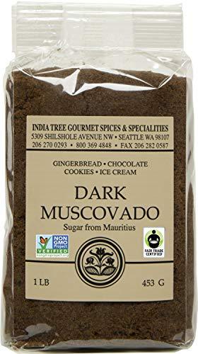 India Tree Dark Muscovado Sugar, 1 Pound