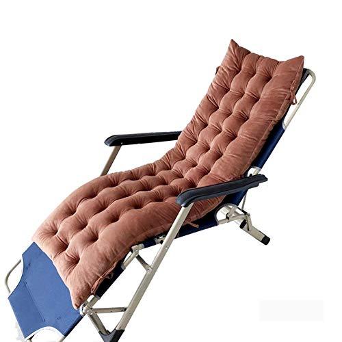 HFTD Cojín para Tumbona de jardín al Aire Libre, colchoneta Relajante para Viajes de Vacaciones, cojín reclinable portátil con Corbata de fijación, Funda de Asiento de Silla de Madera de Repuesto