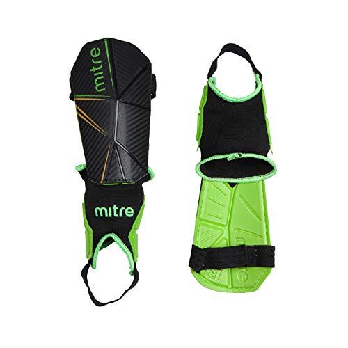 Mitre, Delta Ankle Protect, Parastinchi Da Calcio, Unisex Adulto, Nero, L