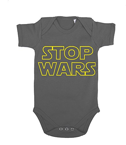 Stop Wars Baby Bebé Body Star Vader Luke Wars Jedi Yoda Skywalker, Farbe2:Gris;Größe2:80