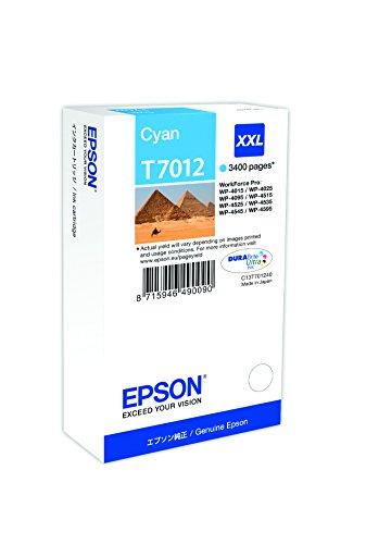 Epson T701240 Workforce Pro Wp 4015/4025/4545 Inkjet / Getto d'Inchiostro Cartuccia Originale, con Amazon Dash Replenishment Ready