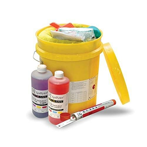 NPS 270000 Grab & Go Specialty Spill Control Acid/Base Neutralizer Bucket Spill Kit