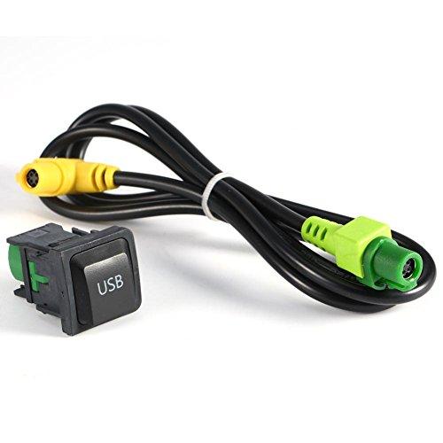 Auto USB Kabel Adapter mit Schalter für Rcd510Rns315VW Golf MK6Jetta MK5Free Karte