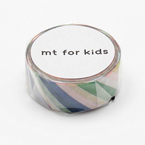 Japanese Washi Masking Tape - MT Kids Mini Roll Diagonal Rainbow