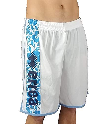 Errea Republic Pantaloncino Short Sport Mare Uomo Ragazzo Essential Rupert (Bianco Swimming, X-Small)