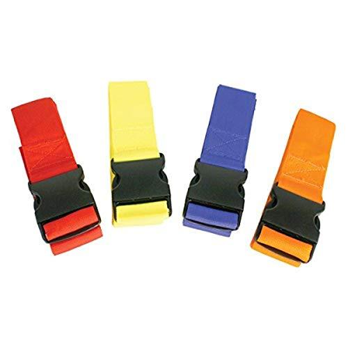 Kiefer Color-Coded Spine Board 4 Torso Straps, Assorted Colors