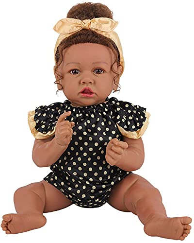 LXTIN Muñecas Reborn 22 Pulgadas 58 cm Cuerpo Completo Silicona Vinilo Muñeca de niña Muñeca Reborn Realista Muñeca recién Nacida Regalos para niños para niños niñas de 3 años o más, A