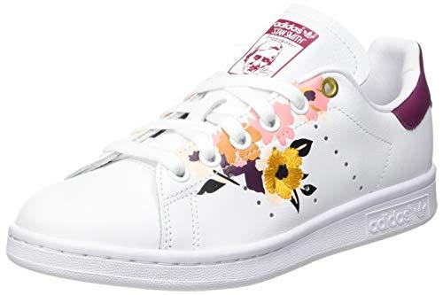 adidas Stan Smith W, Zapatillas de Running Mujer, Ftwwht Powber Pnktin, 40 EU