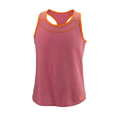 Wilson Mädchen Tank Top, COMPETITION TANK II, Polyester/Baumwolle, Rot/Orange (Granita/Sunrise Orange), Größe M, WRA797901MD