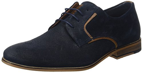 Redskins NESKO, Zapatos de Cordones Derby Hombre, Azul (Marine+Cognac AB), 42 EU