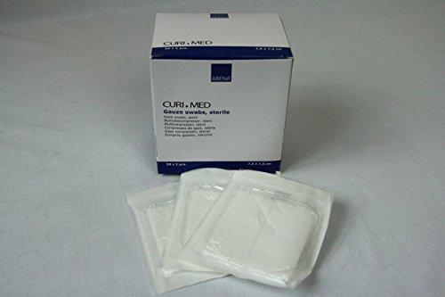 Curi-Med - sterile Mullkompressen - weiß - 7,5 x 7,5 cm - 100 Stück