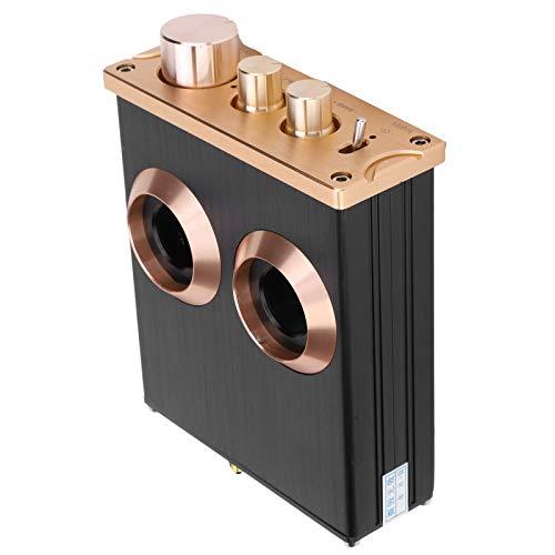 Caiqinlen Amplificador de Tubo, preamplificador de Fono de aleación de Aluminio Preamplificador de Audio para el hogar para el hogar para teléfono para Reproductor de CD para MP3 para TV