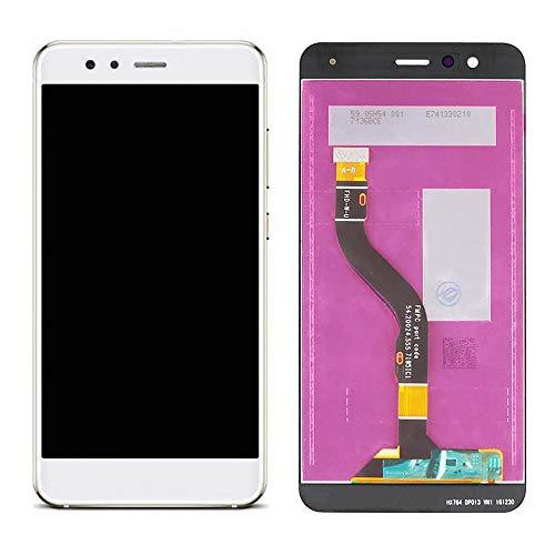 Ellenne LCD Display Huawei P10 Lite Was-LX1 Touch Vetro Nero Bianco Oro + Kit CACCIAVITI (Bianco)