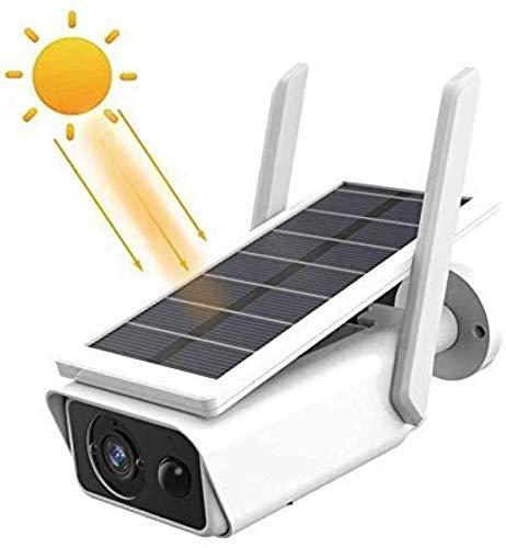 ZGHYBD Batería Cámara de Seguridad inalámbrica para Exteriores Recargable, Recargable WiFi 1080P Cámara IP doméstica con detección de Movimiento PIR Visión Nocturna y Paneles solares Withoutbattery
