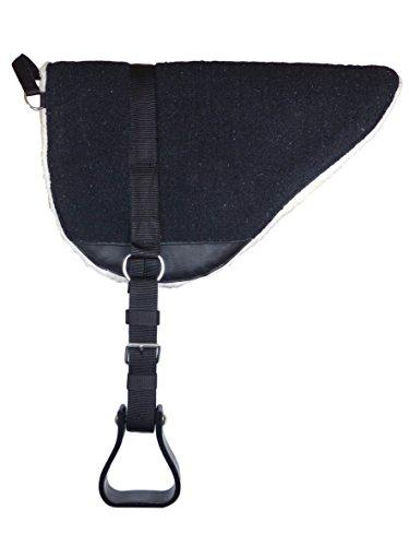 Thor Equine Bareback Pad mit Steigbügeln - Reitkissen - Reitpad - Sattelkissen - Reitkissen schwarz