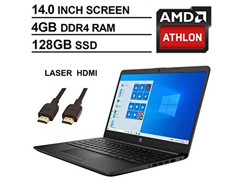 2020 Newest HP 14 Inch Premium Laptop, AMD Athlon Silver...