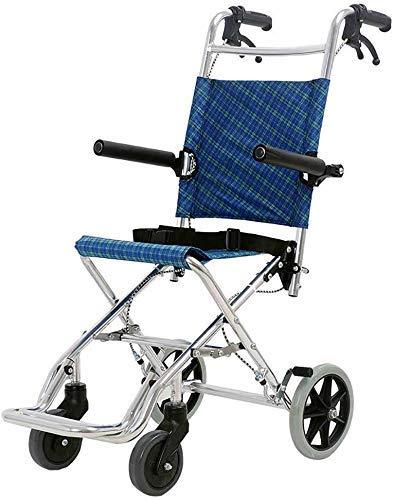 Tragbarer Rollstuhl Old Man Scooter faltrollstuhl Aircraft Rollstuhl Einkaufswagen Can Bär 100 Kg geeignet for Personen mit eingeschränkter Mobilität gku Sicherer und langlebiger Klappstuhl, Strandkor