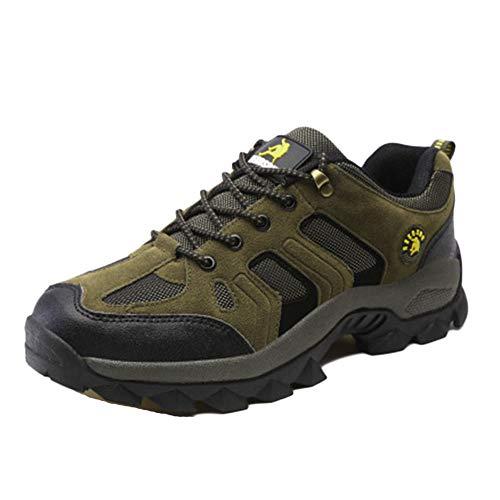 ATTAOL Homme Waterproof Antidérapant Chaussures De Randonnée Imperméables Envoyer des Chaussettes Vert Armée 40 EU