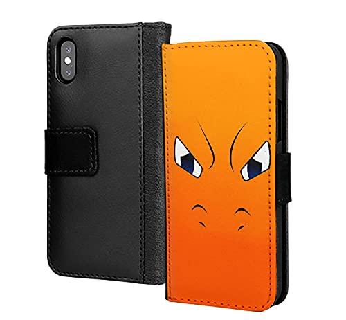 Charizard Angry Face - Funda para iPhone 11 (piel sintética, tarjetero), color naranja